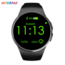 Interpad Smartwatch Relógio Inteligente Monitor de Freqüência Cardíaca À Prova D' Água Suporte SIM Card TF iOS Samsung Relógio Inteligente-relógio Para Xiaomi