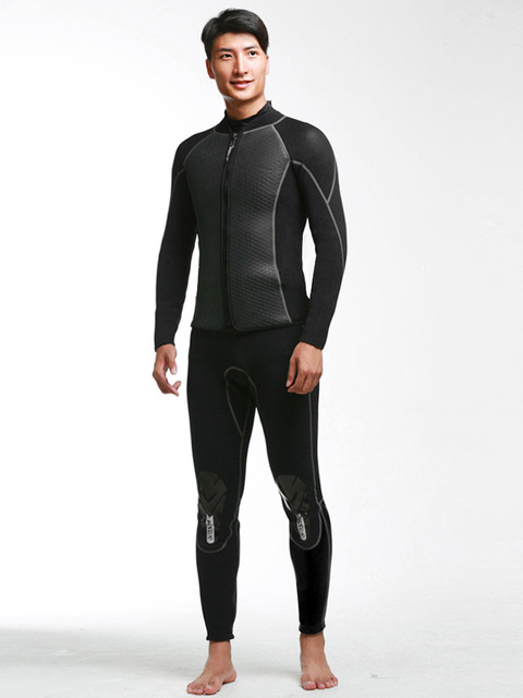 Hisea Men's Top wetsuit jackets pants 2.5mm neoprene long sleeve swimsuit surfing