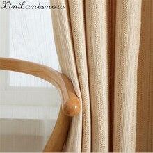 Double Chenille Curtain Cloth Stripes Shading Curtains Bedroom Curtains  E