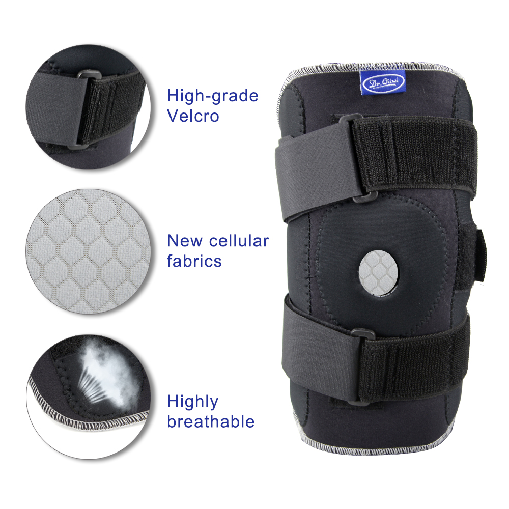 Image 2 - Adjustable Breathable Knee Brace Orthopedic Stabilizer Knee Pads Support Guard with Inner Flexible Hinge Sports Knee PadsElbow & Knee Pads   -
