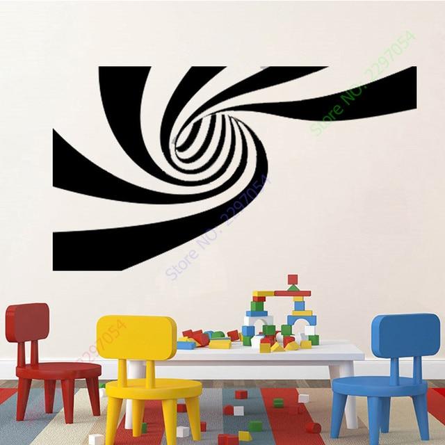 new 2 different designs 3d abstract vinyl wall sticker art wall