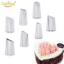 Delidge 7pcsset Rose Nozzle Pastry Tools Cake Set Decorating Tips Cream Icing Piping Sugarcraft Fondant Decorating Tools