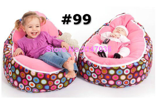 Disco Balls Pink Seat Baby Bean Bag Chairs Comfortable Bed Filling Without