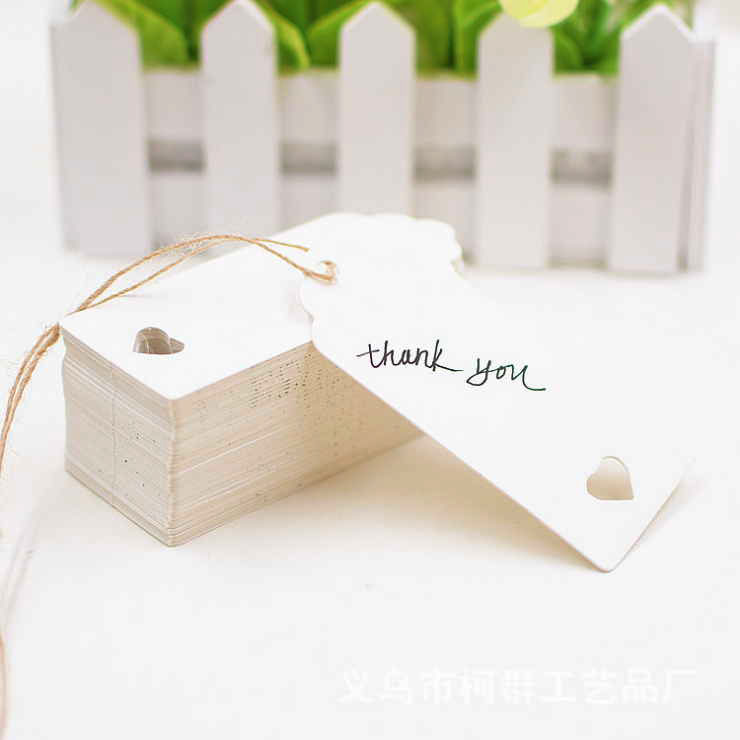 White Brown Kraft Paper Card Message Memo Wedding Party Gift Thank