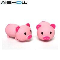 Unidad Flash Usb 100% con capacidad Real, 64 GB, 32 GB, 16 GB, 8GB, 4G, Minnie Pink Pig