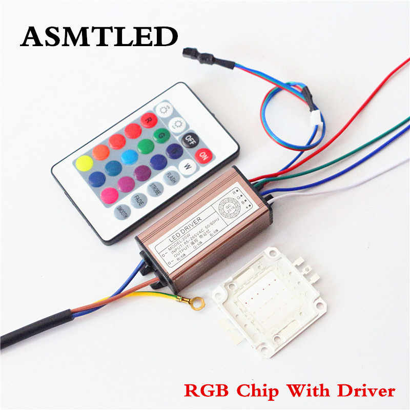 ASMTLE Real Full Watt 10W 20W 30W 50W 100W High Power COB LED lamp Chips Bulb with LED Driver For DIY Floodlight Spot light Lawn