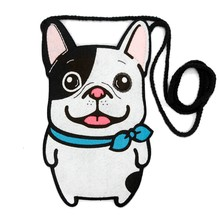 Lovely Puppy Women Satchel Dogs Theme Felt DIY Package Handmade Felt Women Coin Purse Creative Design Bag For Coins & Cards(China)