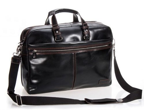 Luxury Men Leather Briefcase Business Bag Genuine Male 15 Laptop Portfolia Attache Office Black In Briefcases From Luggage