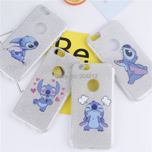 Cartoon Glitter Shiny Bling Hearts  Stitch  Mickey Minnie   Duck TPU Case For iphone 6 6s Plus 7 7 Plus