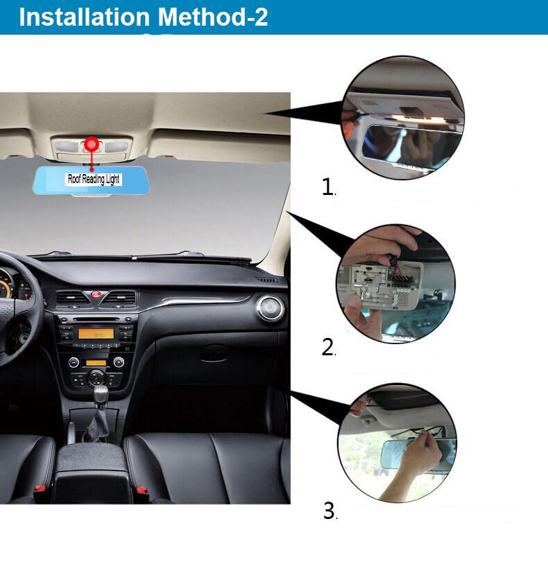 E-ACE Car Dvr Rearview Camera Mirror Auto Dashcam Video Recorder Automobile Full HD1080P Camcorder Dual Camera Lens Registrator 38