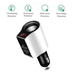Image 5 - Универсальное автомобильное зарядное устройство двойное USB быстрое зарядное устройство 3,0 5 вольт 2.1A для Iphone 7 8 быстрое зарядное устройство для Samsung s8 s9 Huawei