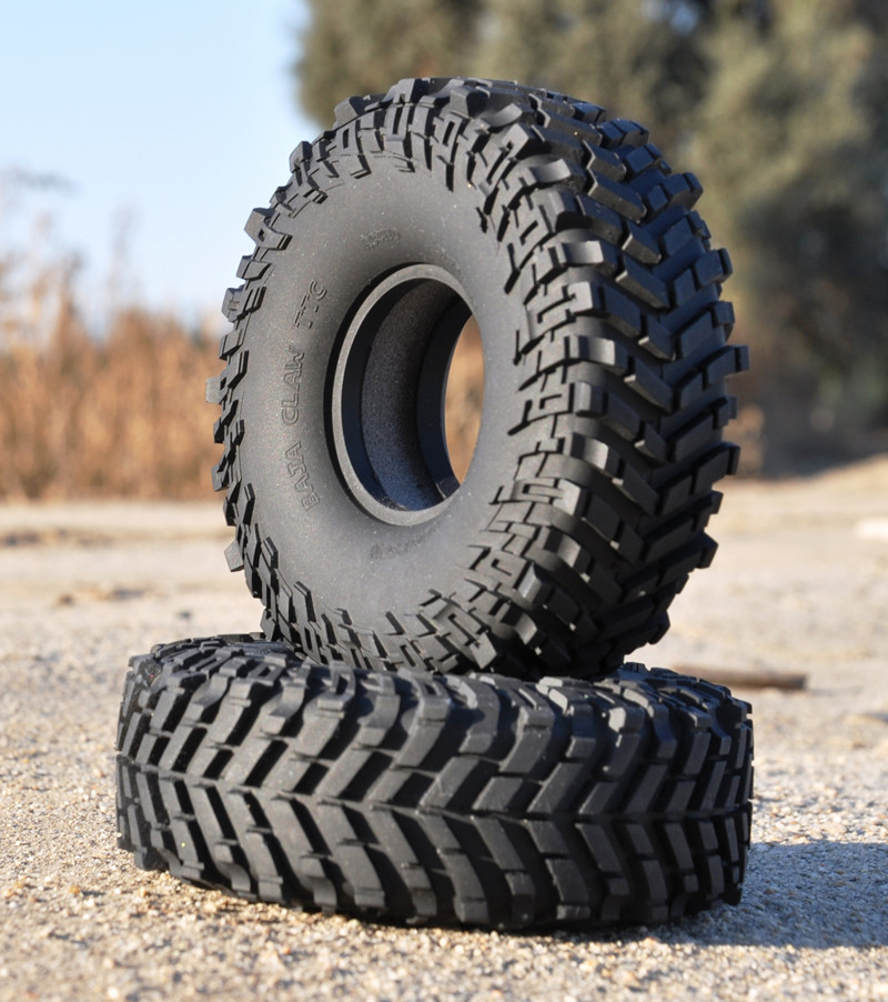 2PCS RC4WD Simulation Wheel Tires Black Rubber Tyre 1.9inch Climbing Grip Tire for Rock Crawler Mickey Thompson RC Car Parts wholesale 2pcs lot for robot 1 10 rc car rc rubber tires tyre