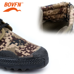 Image 5 - Military Camouflage Wear resistant Rubber Shoes Worker Farmland Garden Industrial Boots Non Slip Mountain Climbing Man