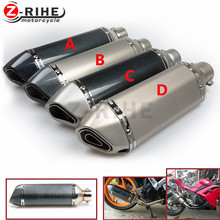 for MT07 FZ07 motorcycle Exhaust Full system FOR Yamaha MT-07 FZ-07 Tracer 2014-2016 with Muffler XSR700 2016-2017 mt07 mt10 mt9