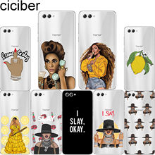 ciciber For Y 9 7 6 5 3 Prime Pro 2017 2018 2019 Soft Silicone For Honor V 10 8 9 Lite Pro X C Clear TPU Phone Cases Beyonce(China)