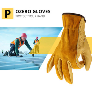 Image 3 - OZERO Mens Work Gloves Cowhide Driver Security Protection Wear Safety Workers Welding Moto Hunting Hiking Gloves For Men 0007