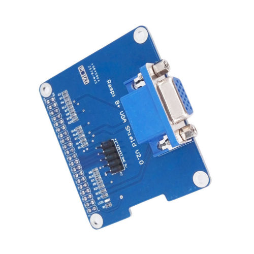 VGA Shield V 2.0 Expansion Board Extend a VGA interface via GPIO Compatible with Raspberry Pi 3 Model B/ Pi 2B / B+/ A+ tengying tygpio 40pin adapter board 3 26pin expansion board for raspberry pi b red