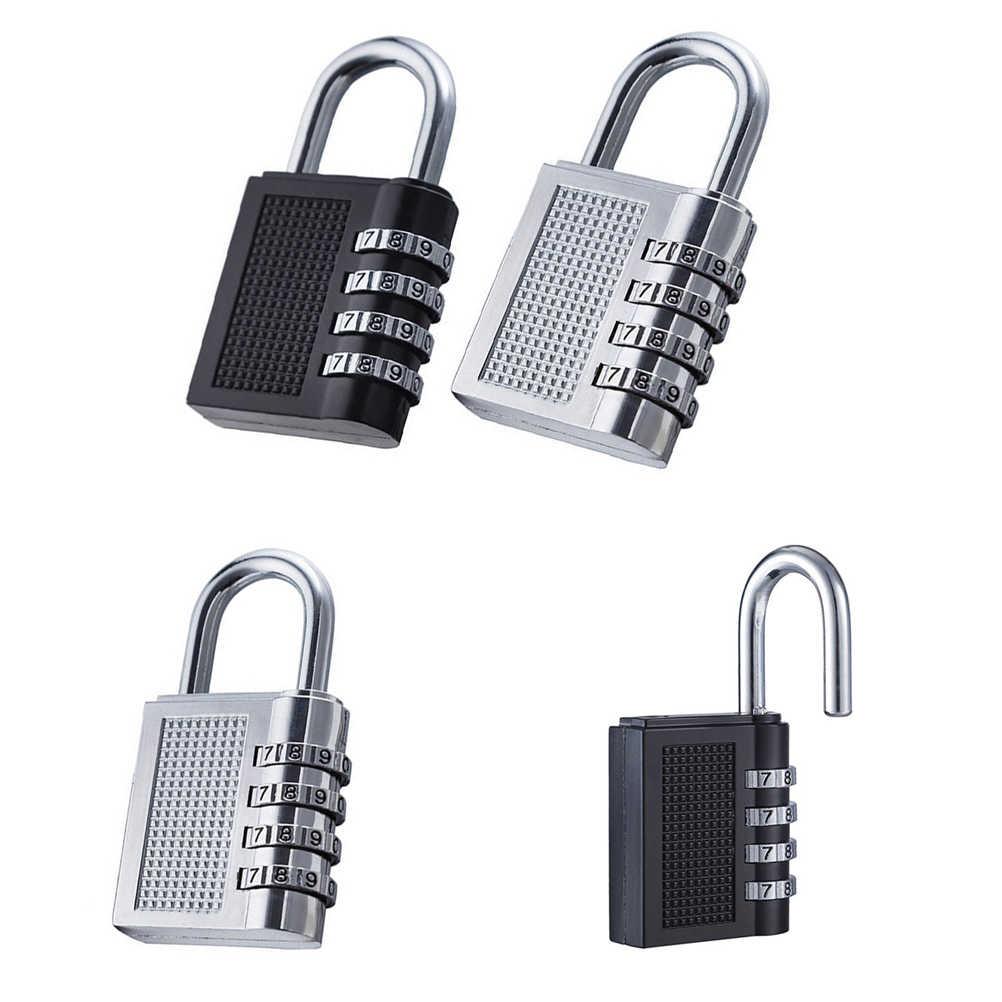 Zlinkj 1 個新 4 ダイヤルスーツケース荷物金属コードパスワードロック南京錠桁のコンビネーションランダムな色