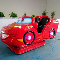 Shopping Malls Beautiful Two Seats Swing Car Kiddie Rides Coin Operated Red Electric Toy Ride On Cars