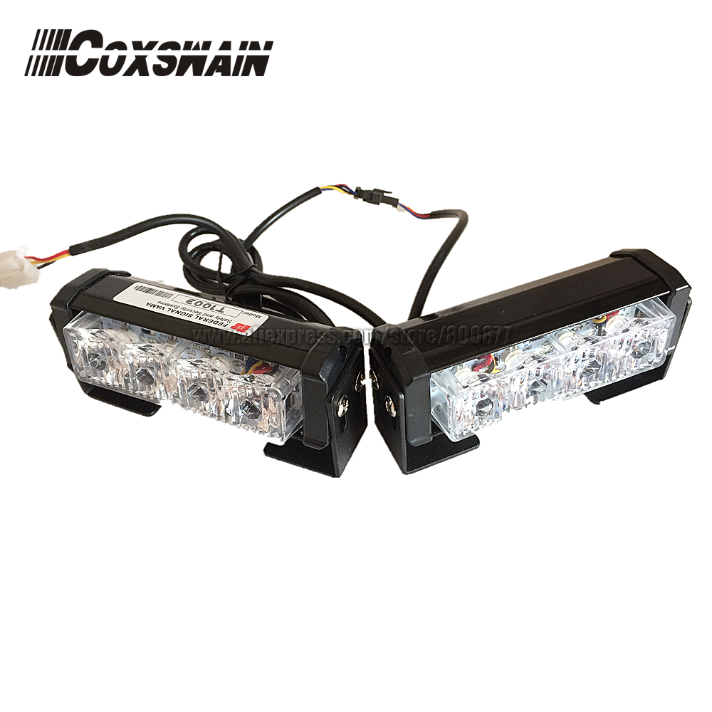 цена на 2X4 LED Universal Car Warning Strobe Flash Warning EMS Police Emergency Light, 13 Modes DRL grill light (CS-4-2)