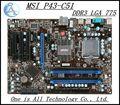 Original desktop motherboard para msi p43-c51 mainboard ddr3 lga 775 capacitor sólido frete grátis