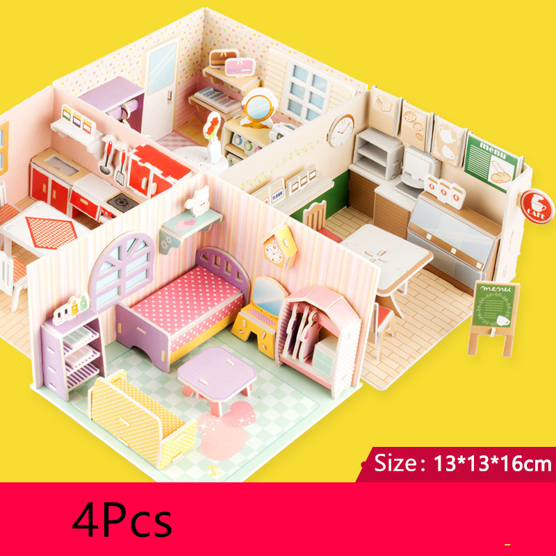 4Pcs/lot 3D Lol Dolls House Toys For Kids Lol Accessories Size Suit For LOL Dolls Toys Baby Dolls Toys Accessories Gifts