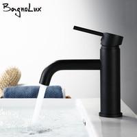 New Matt Black Alba Rose Modern Style Tap Basin Cold And Hot Fashion Round Single Hole Bathroom Small Faucet Basin Ducha Crane