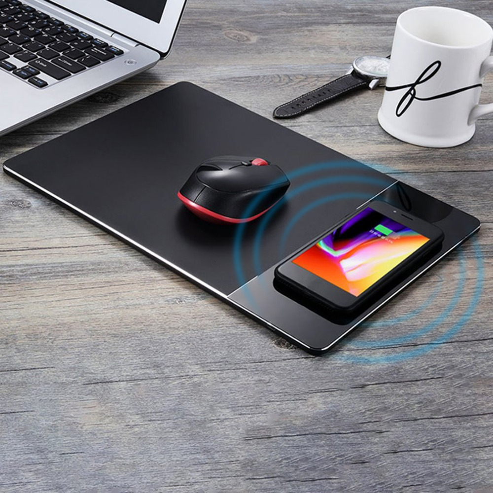 Multifunctional Wireless Charge Computer Mouse Pad Charging Mobile Phone For iPhone 8 for iPhoneX for Samsung Series Mouse Mat