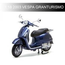 Maisto VESPA Piaggio 2003 VESPA GRANTURISMO 1:18 Motorcycle Models model bike Base Diecast Moto Children Toy For Gift Collection