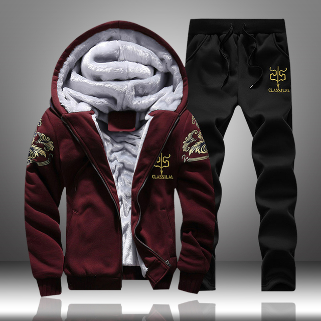 Men Sweatshirts Casual Thick Warm Fleece Hoodies Male Zipper Long Sleeve Solid Hooded Sweatshirt Tracksuit Moletom Masculino