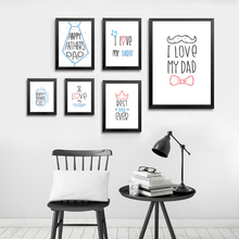 I Love My Dad Poster Canvas Paintings Modern Father's Day Gift Abstract Print Nordic Wall Art Picture for Living Room Home Decor блюдо декоративное home philosophy 28 см i love my home 402171