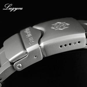 Image 5 - Lugyou San Martin Taucher Männer Uhr Mechanische Edelstahl Sand gestrahlt Sapphire 20ATM Wasserdicht Metall Armband Lum