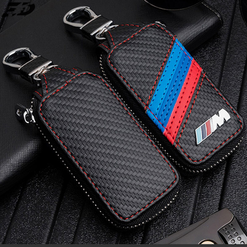 Leather Key Case Cover For Bmw E46 E39 E90 F10 F20 F30 X1 X3 X4 X5 X6 116I 118I M1 M3 M5 Key Case For Bmw Key Cover Car Sticker