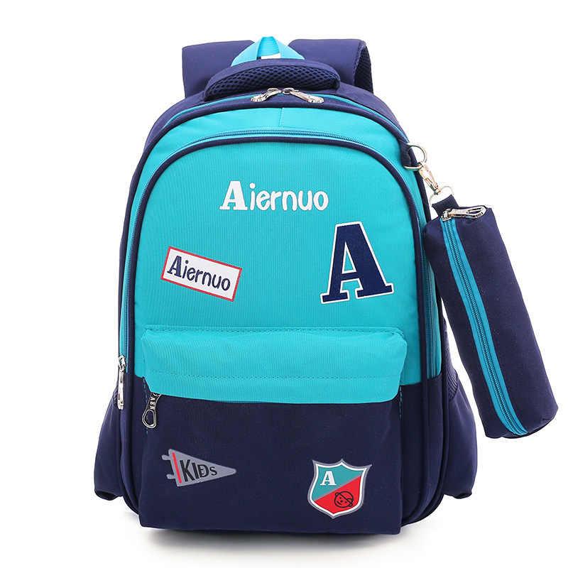 Waterproof School Bags For Girls Boys Children Backpack In Primary School Backpacks schoolbag kids satchel Mochila Infantil Zip