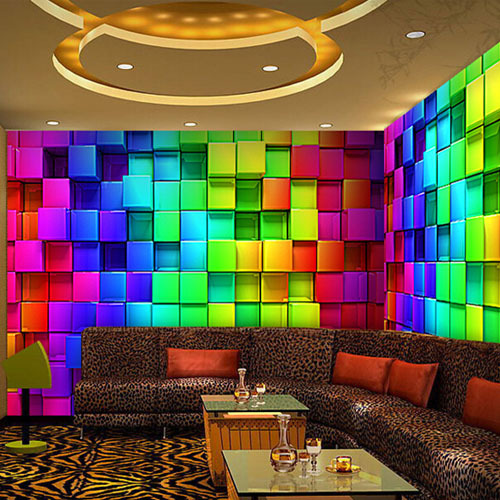 Buy abstract 3d cube wall murals for 3d murals for sale