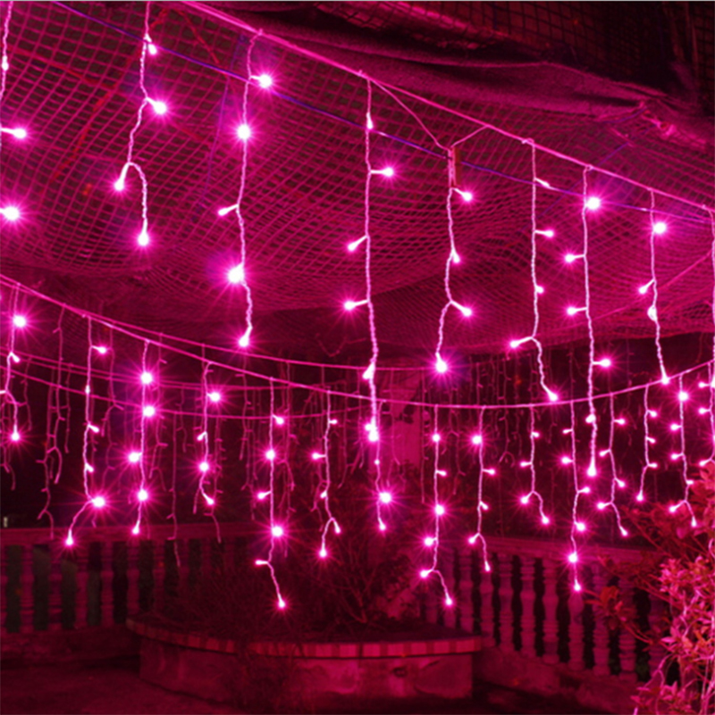 5M 216LEDs Curtain icicle string Light Outdoor Decoration string for Garden XMAS New Year Tree Light EU Plug 220V