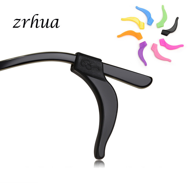 a061d90140b ZRHUA 5 pairs Sale Silicone Anti-slip Holder For Glasses Accessories Ear  Hook Sports Eyeglass