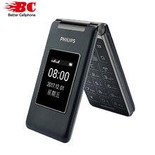מקורי פיליפס E212A MTK 2.8 אינץ 1800mAh סוללה אחת מצלמה FM רדיו תמיכת זיכרון כרטיס ה SIM הכפול 2G flip מקלדת טלפון
