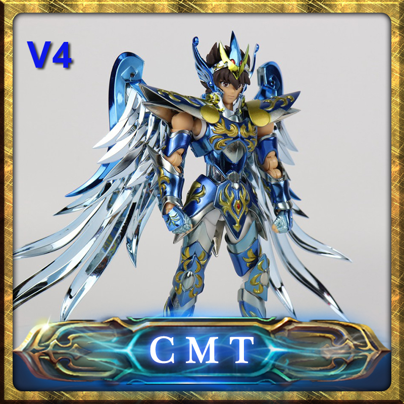 CMT Pegasus Seiya V4 Versiion God Cloth EX Metal Armor Great Toys GT EX Bronze Saint Seiya Myth Cloth Action Figure myth cloth anime figure model saint seiya pegasus tenma v1 metal armor action figures for collections