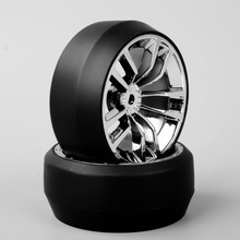 4pcs/set 1/10 Scale Chrome Wheel SBDC RC Car Speed Drift 3 Degree Tires Tyre for HPI Accessories