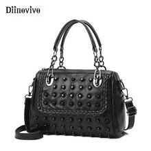 DIINOVIVO Fashionable Rivets Women Handbag Luxury Leather Pu