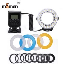 Mamen Macro LED Ring Flash Light Camera LCD Display Speedlite Photographic Light For Sony Nikon Canon 60D 80D 600D 1300D 70D(China)