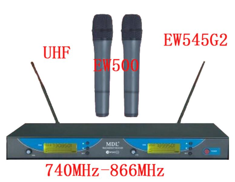 Professional EW545 G2/EW500 G2 UHF Dual Channel Wireless Microphone System with Two Clear Sound Handheld Mic/Free Shipping zgpax s99 mtk6580 quad core 3g smart watch phone android 5 1 8gb rom 5 0 mp camera gps wifi pedometer heart rate smartwatches