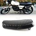 Bright Black Cafe Racing Vintage Flat Cover Seat Saddle Cafe Racer Seat For Suzuki GS Yamaha XJ Honda CB