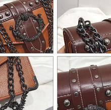 Women Quality PU Leather Lock Chain Handbag (4 colors)