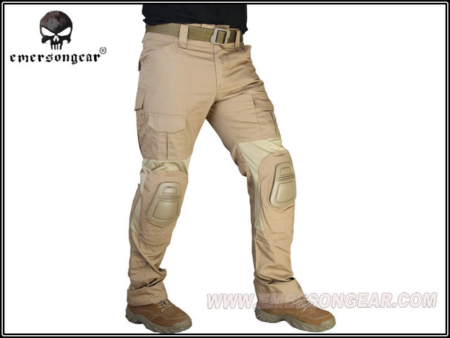 Men Military Airsoft Hunting Combat bdu Pants EMERSON Gen2 Tactical Pants  with Knee Pad Coyote Brown b4baafc91ba2