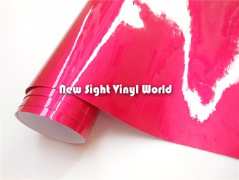 High Quality Rose Glossy Pink Vinyl Wrap Car Wrapping Bubble Free Size:1.52*20M(5ft*65ft)