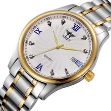 AMST Amantes de la Marca de Lujo de Acero Inoxidable Reloj de Cuarzo 50 M Impermeable de Moda Número Romano de Pulsera Con Caja de Regalo 2016 Nuevo
