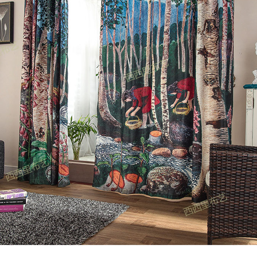 blackout curtains 3d curtains for bedroom christmas curtains living room divider screen blinds window tulle kids curtains drapes in curtains from home