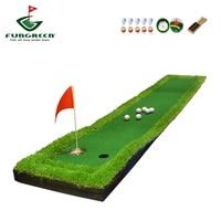 FUNGREEN 50x300CM Mini Golf Putting Green Indoor Outdoor Backyard Protable Golf Practice Putting Trainer Mat for Golfers